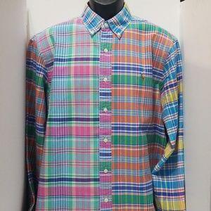 NWOT Ralph Lauren Multi-Color Madres Plaid Shirt
